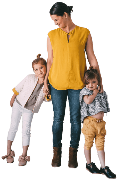 image of a woman with two young girls