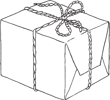 drawing of a package